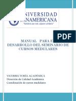 Manual para El Desarrollo Seminario Cursos Medulares