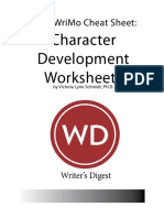 NaNoWriMo - Character Cheat Sheet