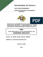 Tesis Efecto de Los Parametros de La Soldadura Tig en Aceros Austeniticos Aisi 310