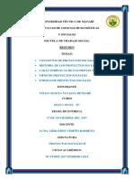 RESUMEN- Conceptos, Historia, Caracteristicas, Tipos y Formas de Proyectos Sociales - CONSULTA 3 - Copia