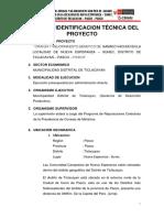 Ficha de Identificacion Técnica Del Proyecto