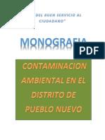 Trabajo Cielo Monografia Contaminacion Ambiental Pueblo Nuevo