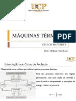 Máquinas Térmicas - Aula 6 - Ciclos Motores