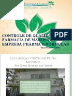 Controle de Qualidade Em Farmácia de Manipulação Na