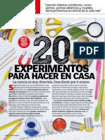 20 Experimentos Para Hacer en Casa