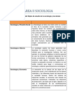 Tarea II Sociologia.