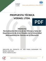 Propuesta Tecnica Vodael Remodelacion-elec-edif-Artes Umce