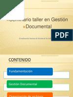 Gestión Documental y Agrupaciones Documentales