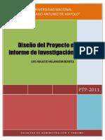 Diseno Del Proyecto e Informe de Investigacion