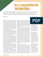 Formación y Consolidación de Recuerdos-2010