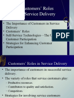 Customers Role in Service Delivery