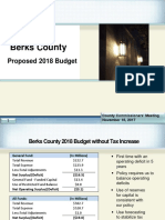 Berks County proposed 2018 budget