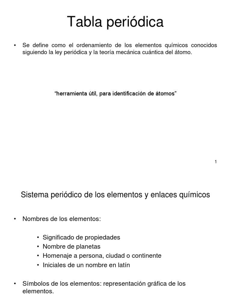 Teoria 5 tabla periodicappt urtaz Gallery