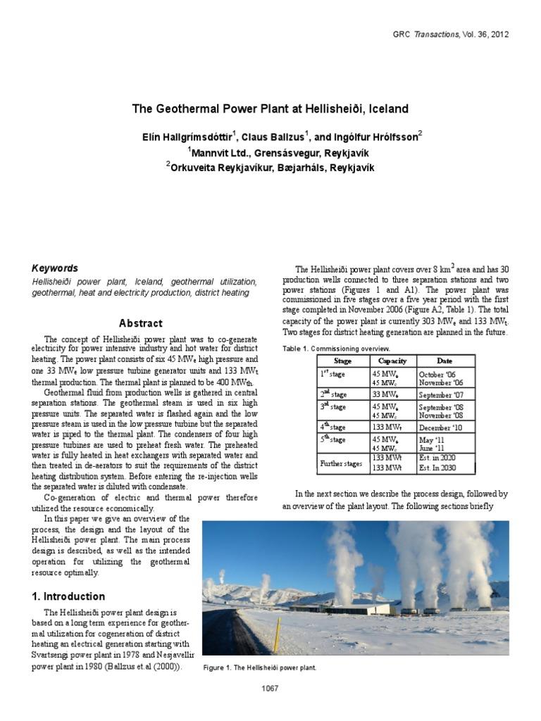 Islandia Heat Exchanger Steam Power Plant Layout Design