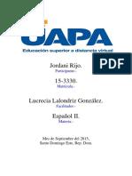 Español II Tarea i Uapa