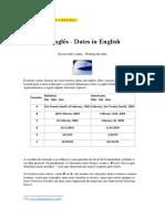 Apostila de Língua Inglesa - Datas e Utilidades Sociais