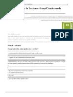 Aprendizaje de La Lectoescritura-Cuaderno de Prácticas