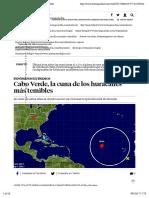 Cabo Verde, la cuna de los huracanes más temibles