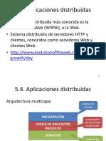 5.4. Aplicaciones Distribuidas