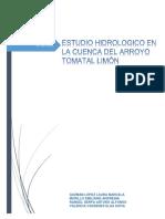 ESTUDIO HIDROLOGICO EN LA CUENCA DEL ARROYO TOMATAL LIMÓN.docx