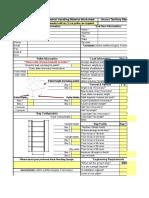 Rack Material Worksheet