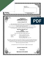 Contoh Undangan Pengajian Nikah Reiza Dan Juwita