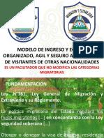 Modelo de Ingreso y Egreso a Nicaragua