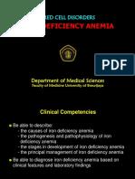 1) Iron Deficiency Anemia