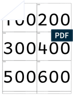Cartes de Numeration Version E Jusqu a 900 000