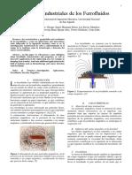 Aplicaciones Industriales de Los Ferrofluidos