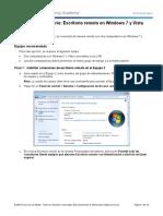 8.1.4.4 Lab - Remote Desktop in Windows 7 and Vista
