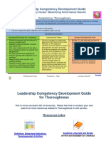 Leadership Competency Development Guide Thoroughness