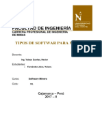 TIPO DE SOFTWARE - MINAS
