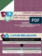 Lesson Learnt HPV DKI Utk DIY_Prima