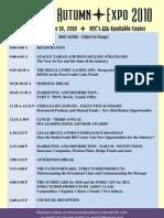 SPA Autumn Expo - Oct 18 -2010 - Draft Agenda