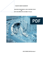 General Guidelines for Design and Construction of Concrete Diaphram (Slurry) Walls