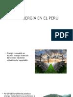 La Energia en El Perú