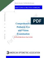 AOAPeerReview Pediatric Guideline Eye Exam