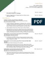 Physics PhD Candidacy CV