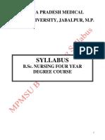 B.sc. Nursing Syllabus.