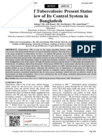 Prevalence of Tuberculosis Present Status and Overview of Its Control System in Bangladesh