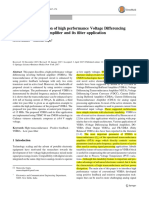 New CMOS Realization of High Performance Voltage Differencing