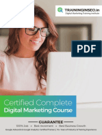 Advanced and Certified Digital Marketing Course, Training Syllabus PDF