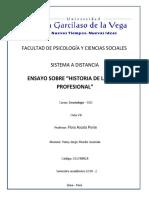 Ensayo Sobre La Historia de La Etica Profesional