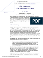 JFK, Indonesia, CIA and Freeport Sulphur