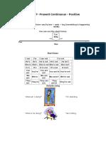 Lesson 7- Present Continuous - Positive.doc