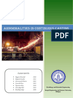 Copy of Abnormalities in Continuous Casting