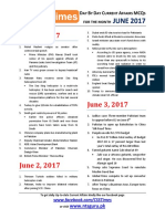 Day by Day Current Affairs (June 2017)