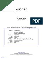 Yahoo Inc 10k 2009