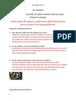 lana year 8 art analysis  1